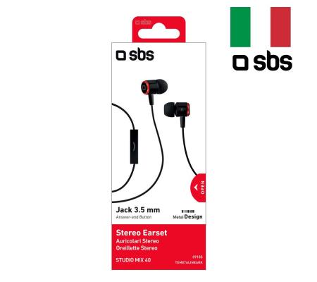 SBS-09185 Studio Mix40 Mikrofonlu Kulaklık ( Pratik Kullanım, İtalyan Dizayn, Kulağa Tam Uyum - Konforlu Kullanım )
