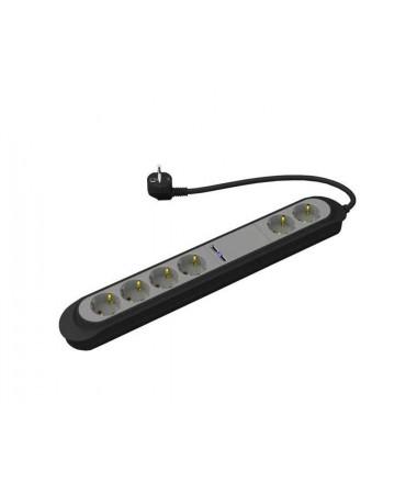 Vivanco 33506 Usb 6'lı Akım/Çocuk Korumalı Priz ( USB Özelliği ile Telefon Şarj Edebilme - Çocuk Koruma Kilidi )