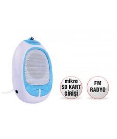 SR 131 Mikro SD kartlı Cep Radyosu ( Mavi )