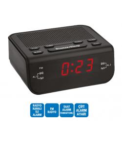 R-137 Plus 2 Dijital Saat - Çift Alarm / Radyo ( Yeni Model & Yeni Teknoloji )