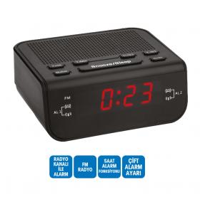 R-137 Plus 2 Dijital Saat - Çift Alarm / Radyo ( Alarmlı saatimiz yanı başımızda! )
