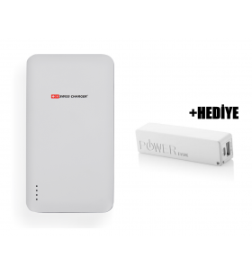 Swiss Charger 15000 Powerbank + PB-2600 Hediye!