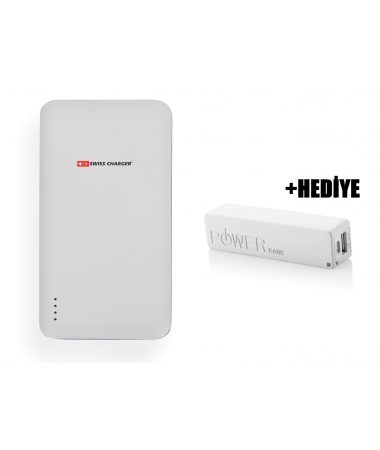 Swiss Charger 15000 Powerbank + PB-2600 Powerbank Hediye!