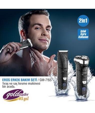 Gm-7155 Eros 2 İn1 Erkek Bakım Seti ( Çıkarılabilir ve kolay temizlenen başlık )