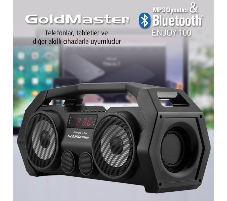 Goldmaster Enjoy-100 Bluetooth, Radyo, SD, USB'li Ses Sistemi
