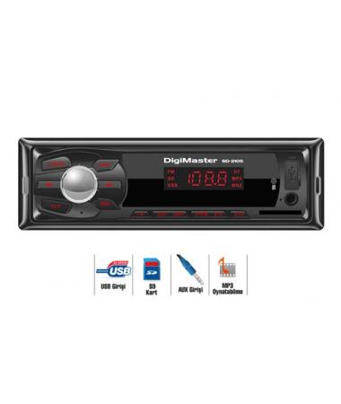 Digimaster Usb-Sd 2105 Oto Radyo Çalar ( Uzaktan Kumanda, USD-SD kart Okuma, FM-PLL radyo )