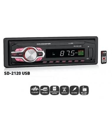 SD-2120 Oto Teyp ( 18 Kanal Hafızası, USB-SD Kart Okuma & Ayrılabilir Ön Panel )