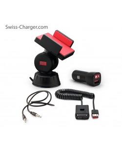 Swiss Charger Sca-30001 Araçiçi Telefon Tutucu Takım ( 360° Her Yöne Dönebilir )