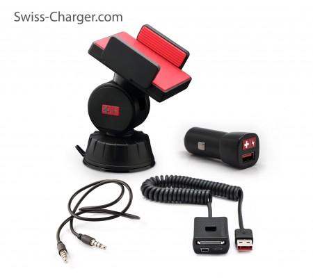 Swiss Charger Sca-30001 Araçiçi Telefon Tutucu Takım