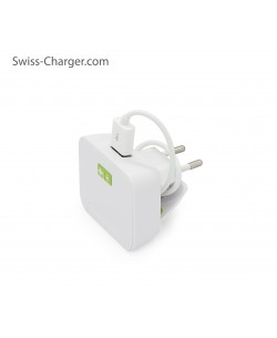 Swiss Charger Sch-21002 Ecomax Unıv.Şarj Cihazı + Kablo ( Samsung Şarj Kablosu Hediye!  - Usb Çıkış Ünitesi Tüm Telefonlar ile uyumlu! )