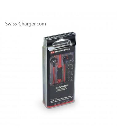 Swiss Charger Su Geçirmez ve Ultra Dayanıklı Kulaklık! ( Kırmızı ) ( İsviçre Swiss Kalitesi İle Tanışın! Dışarıya En Ufak Ses Vermeden Müziklerinizi Dinleyin! )