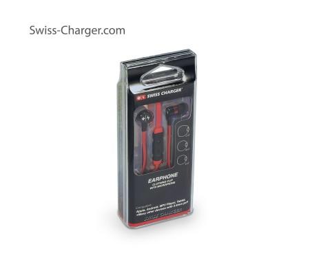 Swiss Charger Su Geçirmez / Yıkanabilir ve Ultra Dayanıklı Kulaklık! ( Kırmızı ) ( İsviçre Swiss Kalitesi İle Tanışın! Dışarıya En Ufak Ses Vermeden Müziklerinizi Dinleyin! )