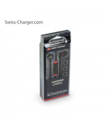 Swiss Charger Su Geçirmez / Yıkanabilir ve Ultra Dayanıklı Kulaklık! ( Siyah ) ( İsviçre Swiss Kalitesi İle Tanışın! Dışarıya En Ufak Ses Vermeden Müziklerinizi Dinleyin! )