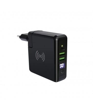 Swiss Charger SCC-30093 Kablosuz Şarj Cihazı & Powerbank ( Hızlı Şarj, Kablolu yada Kablosuz Kullanım, Çift Usb )