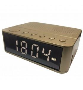 Waker Bluetooth Radyolu Alarmlı Dijital Saat ( Gold )