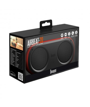 ( TÜKENDİ!) Divoom AirBeat 20 Bluetooth Hoparlör Su Geçirmez / Çift Hoparlör! / Tüm Cihazlar ile Uyumlu ( Divoom Kalitesi ile Tanışın! ) ( Kırmızı )