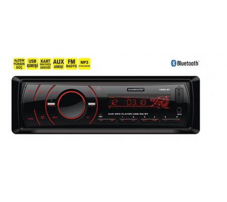 V850 Bluetooth Oto Teyp ( USB-SD Kart Desteği, Aux Grişi & Uzaktan Kumanda )