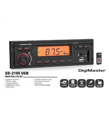 DİGİMASTER USB-SD-2105 OTO RADYO ÇALAR