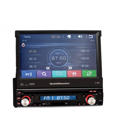 D-7065 USB Oto Radyo ( 4x45Watt Hoparlör gücü  - Subwoofer çıkışı - Ayrılabilir Ön panel )