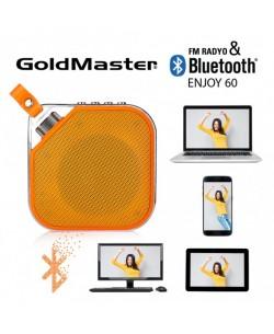 Bluetooth Hoparlör & Mp3 Oynatıcı  - Tüm Cihazlar ile Uyumlu! Telefon ile görüşebilme / Müzik Dinleyebilme ( Sarı )