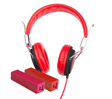 Pro Enjoy Set V3 ( Pro Enjoy Setiniz ile Eğlence Yanı Başınızda! Dayanıklı, Hafif, Esnek, Kırmızı Kablolu Kulaklık Üstelik Kırmızı ve Pembe 2600 Mah Powerbank Hediye! )