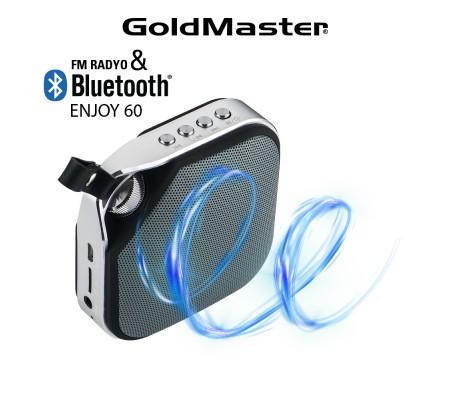 Enjoy-60 Bluetooth Hoparlör & Mp3 Oynatıcı ( Tükenmek Üzere) / Radyo - Tüm Cihazlar ile Uyumlu! Telefon ile görüşebilme / Müzik Dinleyebilme ( Siyah )