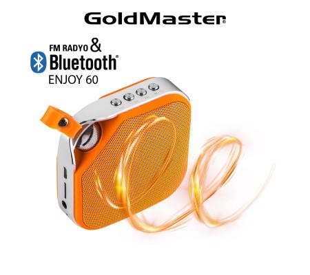 Enjoy-60 Bluetooth Hoparlör & Mp3 Oynatıcı ( Tükenmek Üzere ) / Radyo - Tüm Cihazlar ile Uyumlu! Telefon ile görüşebilme / Müzik Dinleyebilme ( Sarı )
