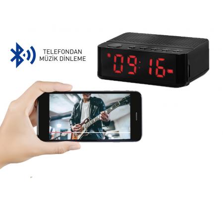 ( TÜKENDİ! ) Home Time Mini Bluetooth Hoparlör ve Dijital Saat - Yeni Seri / Yeni Teknoloji! Müzik Dinleyebilme, Telefon ile Konuşabilme - 6 Fonksiyon Bir Arada! ( Siyah )