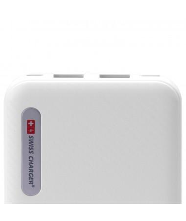 ( SADECE 20 ADET!  ) Swiss Charger 10000 Powerbank ( Aynı Anda İki Cihaz Şarj Edebilme, İsviçre Swiss Özel Seri - Tüm Tablet Ve Akıllı Telefonlara Uyumlu )