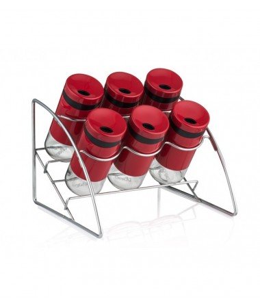 Pr85-1031-Kırmızı Standlı 6Lı Baharat Takımı