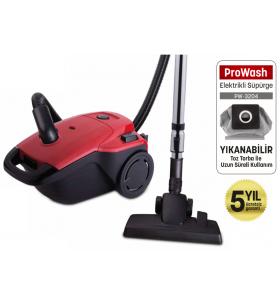 PW-3204 ProWash Elektrik Süpürge ( 4 Litre Yıkanabilir Toz Torbası - Hepa Çıkış Filtresi Sağlıklı Kullanım! )