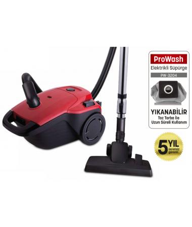 PW-3204 ProWash Elektrik Süpürge + Kablolu Optimus Kulaklık Hediye! ( 4 Litre Yıkanabilir Toz Torbası - Hepa Çıkış Filtresi Sağlıklı Kullanım! )
