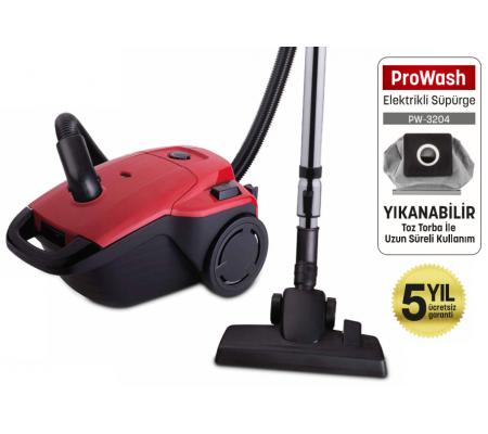 PW-3204 ProWash Elektrikli Süpürge + Kablolu Optimus Kulaklık Hediye! ( 4 Litre Yıkanabilir Toz Torbası - Hepa Çıkış Filtresi Sağlıklı Kullanım! )