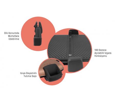 ( TÜKENDİ! ) PT-3239S ProToaster Izgara ve Tost Makinesi ( Teflon Plaka, Yapışmaz, 180 Derece Açılabilir Tasarım Ile Izgara Fonksiyonu )