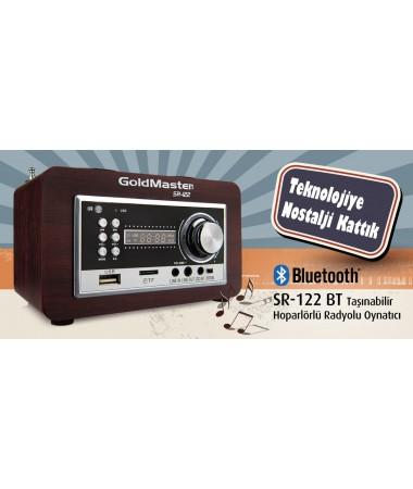 SR-122 Mini Bluetooth + Radyolu + Uzaktan Kumandalı Oynatıcı ( Çok Tercih Edilen Anneler Günü Hediyesi! )