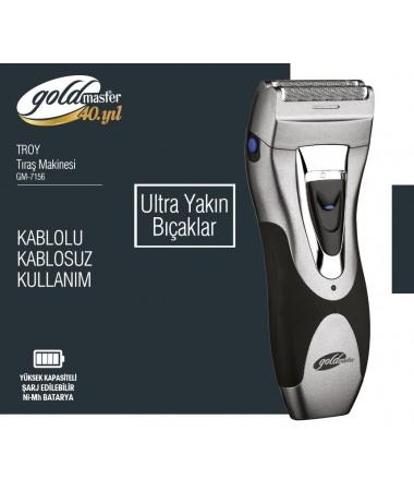 Goldmaster GM-7156 Troy Tıraş Makinası ( Tıraşa Yeni Başlayanlar İçin Kolay Kullanım! )