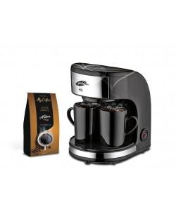 Özel İkili Set! GM-7331 Zinde MİNİ Filtre Kahve Makinası + ARABICA 100GR FİLTRE KAHVE HEDİYE!