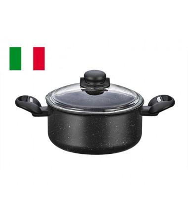 ( TÜKENDİ! ) MONETA KRATOS DERİN TENCERE 20 CM ( İtalyan ve Yeni Sezon Granit Serisi )
