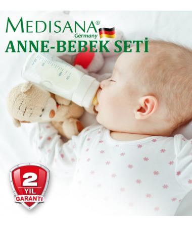 Medisana Anne-Bebek Seti ( Göğüs Pompası, Ateş Ölçer, Çubuk Derece, Nem Ölçer & Hava Nemlendirici )
