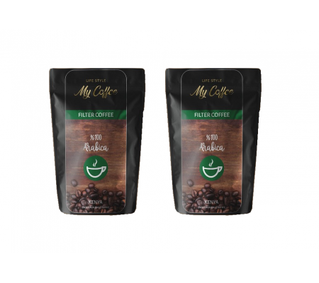 100GR MyCoffee Arabica Filtre Kahve  X 2 ( Premium Özel Lezzet ! French Press & Ev tipi makine kullanımına uygun )