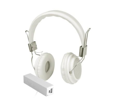 Pro Enjoy Set V6 ( Pro Enjoy Setiniz ile Eğlence Yanı Başınızda!  Dayanıklı, Hafif, Esnek, Bej Kablolu Kulaklık Üstelik Beyaz ve Pembe 2600 Mah Powerbank Hediye! )