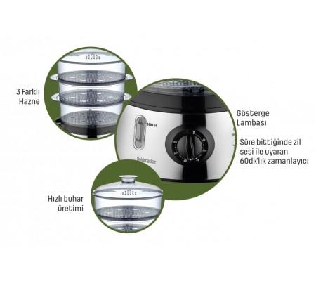( TÜKENDİ! ) BioFit Buharlı Pişirici ( Hem Lezzetli Hem Sağlıklı! - Suyun Sağlığı ile Yemeklerinizi Hazırlayın! - Sebze, Balık & Tavuk BioFit ile Daha da Lezzetli! )