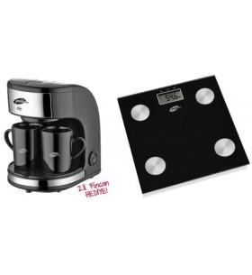 Özel İkili Set! GM-7331 Zinde MİNİ Filtre Kahve Makinası + Fitmax Vücut Analiz Baskülü! Zinde ve Fit Kalmak İsteyenlere!