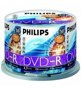 PHILIPS DVD+R 4.7 GB 16X 120 MIN. 50Li CAKE BOX