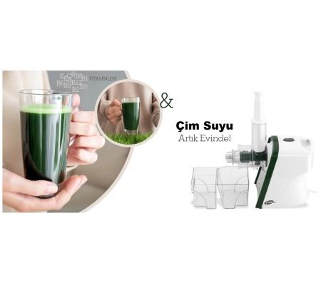 GM-7245 Buğday Çimi Sıkacağı (  Sağlıklı Bileşenleri ile Dikkat Çeken Çim'in En Özel Su Kıvamı 7245 Çim Sıkacağı ile Evlerinizde! )