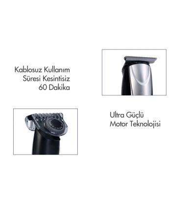 PH-3237 ProClipper Saç ve Sakal Şekillendirme Makinesi ( 1-10 mm Aralığında Ayar İmkanı Sunan Özel Teker Başlık & Kablolu/Kablosuz Kullanım )