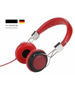 VIVANCO COL 400 - Street Style Headphones / Kablolu ( Kırmızı )  ( Almanya Özel Seri / Özel Tasarım & Üstün Ses Kalitesi! )
