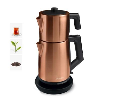 ( TÜKENDİ! ) PT-3248G ProFlavor Çay Makinesi! Yeni Trend! ( Özel Dizayn, 2 LT Hazne ve 1 LT Demlik Kapasitesi & Damlatma Yapmayan Özel Ağız Tasarımı )