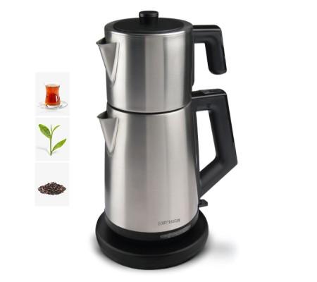 ( YENİ! ) PT-3248 ProFlavor Çay Makinesi! Yeni Trend! ( Özel Dizayn, 2 LT Hazne ve 1 LT Demlik Kapasitesi & Damlatma Yapmayan Özel Ağız Tasarımı )