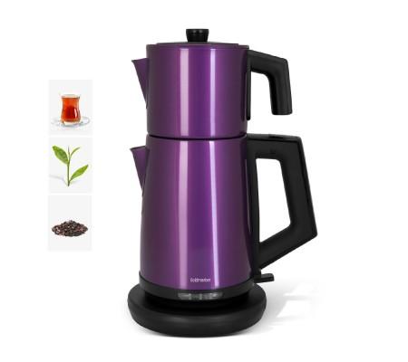 ( TÜKENDİ! ) PT-3248M ProFlavor Çay Makinesi! Yeni Trend! ( Özel Dizayn, 2 LT Hazne ve 1 LT Demlik Kapasitesi & Damlatma Yapmayan Özel Ağız Tasarımı )